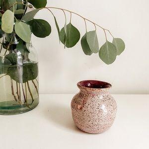Small handmade pink vase